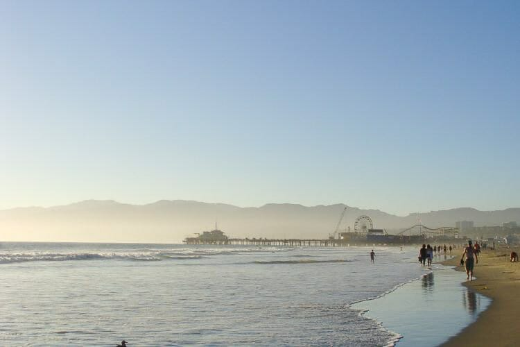 santa monica beach los angeles california