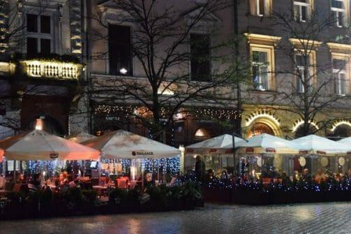 main square cafes krakow
