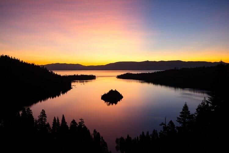 lake tahoe california fall